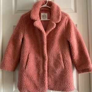 Zara Girls Teddy Coat Pink